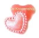 KN563 Parelmoer hart roze