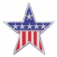 Opstrijkbare applicatie Stars & Stripes rood-wit-blauw