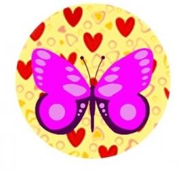 Flatback vlinder hartjes