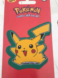 Pikachu Pokemon groen strijkapplicatie