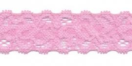 Elastisch kant licht roze 22 mm