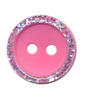 Knoop glitter rand roze
