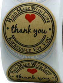 Sticker rond:  Thank You