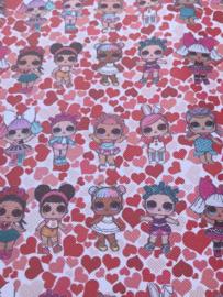 Leer L.O.L hartjes rood/roze