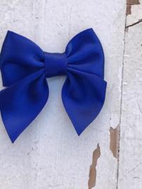 Satijnen brede strikjes kobalt/royal blue