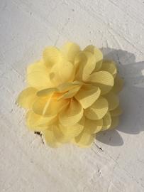 Chiffon bloem geel 7cm