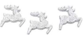 Rendier zilver glitter
