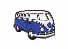 Opstrijk applicatie VW bus blauw