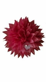 Bloem stof roze 9.5 cm