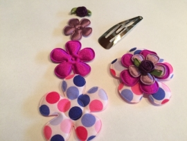 DIY Haarknipje multicolor stip