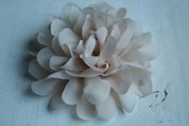 Bloemen chiffon 11 cm Zandbruin