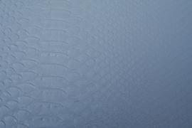 Leer krokodil structuur zilver
