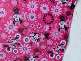 Leer Minnie mouse hot pink bloemen
