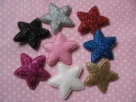 ster glitter 2.5 cm kies jou kleur