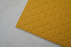 Leer doorstik motief warm geel