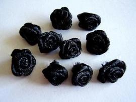 R016a Roosjes zwart 1cm  (10)