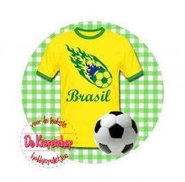Flatback voetbal Brasil ruit(k879)