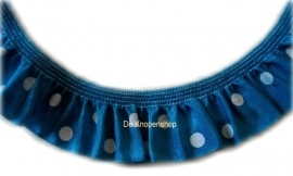 Ruche band aqua polka dot