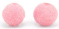 Pompom/velvet kralen roze
