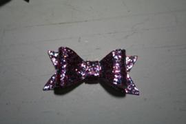 Glitter strik roze diva mix 7cm