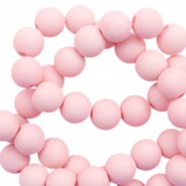 Kralen acryl mat 10 mm pastel roze