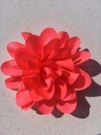 Chiffon bloem neon roze  5,5 cm