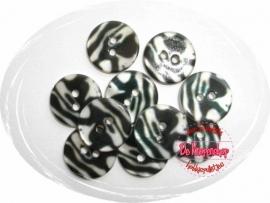 KN557a Luipaard zwart/wit