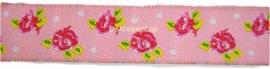 Sierband roze & roosjes