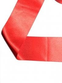 Satijnlint rood 7 cm
