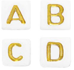 letterkraal wit goud vierkant