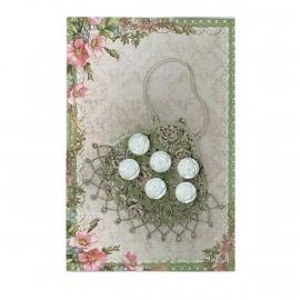 Clayre & Eef parel roosjes knoopjes (tas)