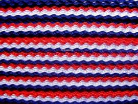 Rood,wit & blauw  zigzag