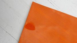 Leer glimmend glitter /streep motief oranje