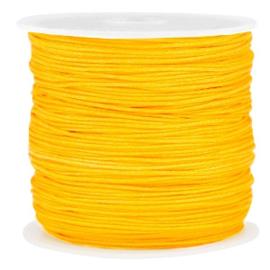 Macramé draad oker geel 0.8mm