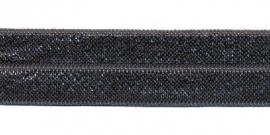 Elastisch biaisband antraciet 2 cm
