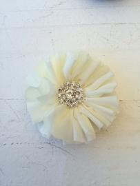 Luxe bloem met strass  ivoor