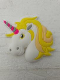 Flatback unicorns hoofd wit