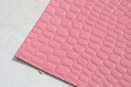 krokodillenprint lakleer roze
