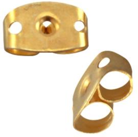 Oorbel stoppers gold nikkelvrij