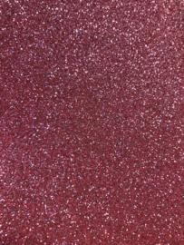 Glitter Leer Roze Mauve 20x22 cm