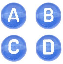 Letterkraal ROYAL BLUE TRANSPARANT A t/m Z
