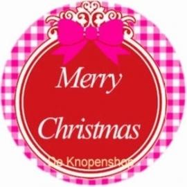 Flatback Merry Christmas rood (k135)
