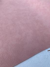 Leer kreuk motief dusty pink/  oud roze