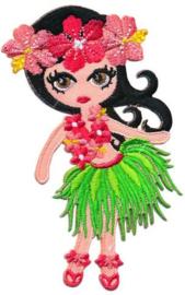 Opstrijkbare applicatie meisje Aloha