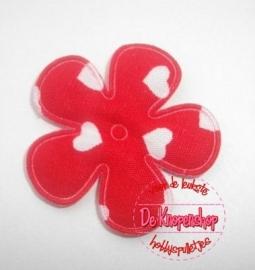 Hartjes bloem rood 2,5cm
