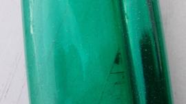 Leer doorzichtig glitter groen 10x30 cm