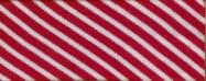 Biasband streep wit/Bordeaux (6014)