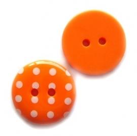 Stippen knoop oranje 1,5cm