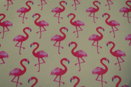 Flamingo leer geel/hot pink