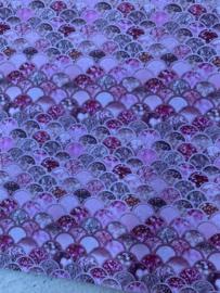 Leer zeemeermin staart patroon